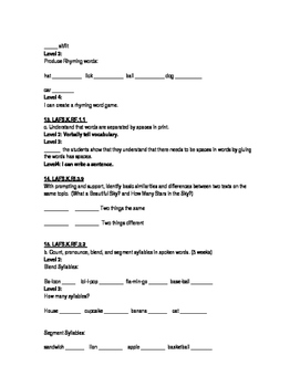 Kindergarten ELA Assessments