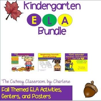 Kindergarten ELA Bundle - Fall Edition