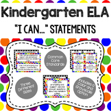 Kindergarten - ELA CCSS I Can Statements (Primary Dots and Black Dots)