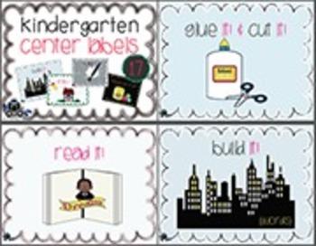 Kindergarten ELA Centers Signs / Posters
