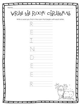 Kindergarten ELA Christmas Set