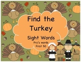 Find the Turkey sight word game