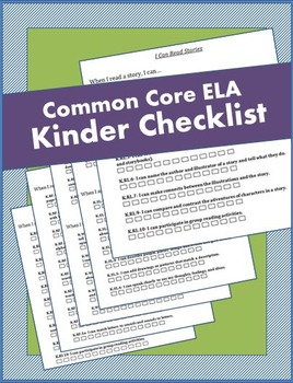 Kindergarten ELA Common Core Checklist