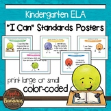 "Kindergarten ELA Common Core ""I Can"" Classroom Posters and"