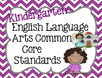 Kindergarten ELA Common Core Standard Posters