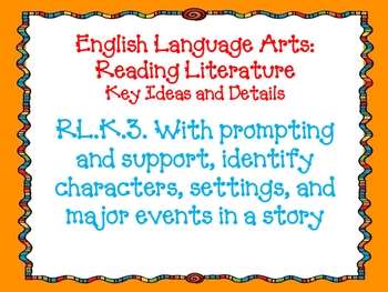Kindergarten ELA Common Core Standards Posters