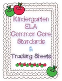 Kindergarten ELA Common Core Standards and Checklists