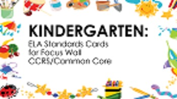 Kindergarten ELA Standard Cards