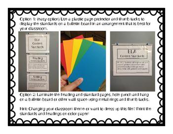 Kindergarten ELA Content Standard Posters