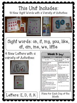 Kindergarten ELA Curriculum: Reading in a Snap Unit 2