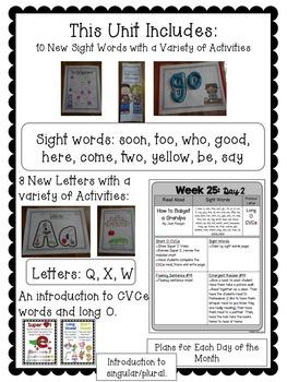 Kindergarten ELA Curriculum: Reading in a Snap Unit 7