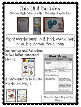 Kindergarten ELA Curriculum: Reading in a Snap Unit 9