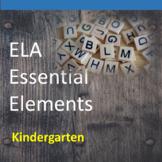 Kindergarten ELA Essential Elements for Cognitive Disabilities: Data Collection