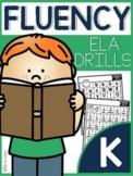 Kinder ELA Fluency Drills |GOOGLE™ READY WITH GOOGLE SLIDES™| Distance Learning