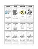 Kindergarten ELA Homework 2