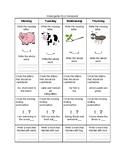 Kindergarten ELA Homework 3
