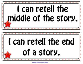 Kindergarten ELA I Can Statements