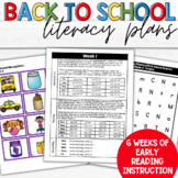 Beginning Reading and Literacy Skills for Kindergarten