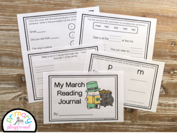 Kindergarten ELA March  Reading Journal