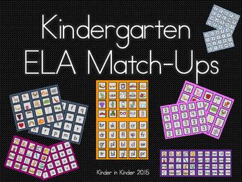 Kindergarten ELA Match-Ups