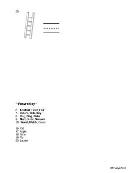 Kindergarten ELA & Math Assessment Packet