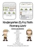 Kindergarten ELA & Math Morning Work - MOY