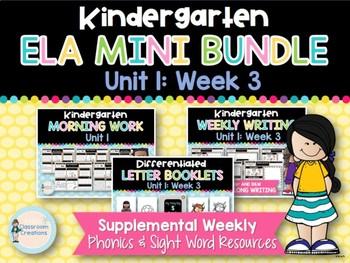 Kindergarten ELA Mega BUNDLE (Unit 1)