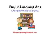 Kindergarten ELA Missouri Learning Standards Checklist