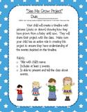 """Kindergarten ELA """"See Me Grow"""" project parent flyer"""