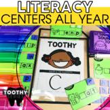 Kindergarten ELA Toothy® Task Kits   Games   Centers   Spiral Review Bundle