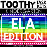 Kindergarten ELA Toothy® Task Kits | Games | Centers | Spiral Review Bundle