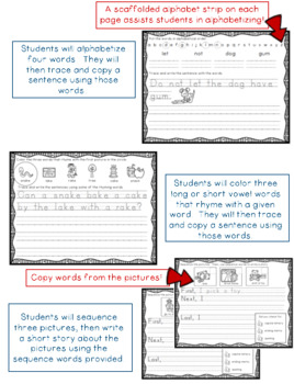 Kindergarten ELA Writing Journal