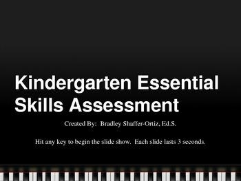 Kindergarten ELA and Math Essential Skills Assessment PowerPoint