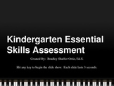 Kindergarten ELA and Math Essential Skills Assessment PowerPoint