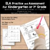 Standardized Test Prep Kindergarten ELA and Math