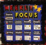 Kindergarten ELA and Math Standards for Focus Board