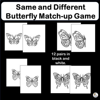 Same and Different: Butterfly Matching Game for Preschool & Kindergarten!