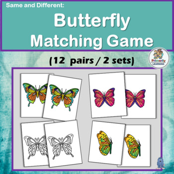 Same and Different BUTTERFLIES