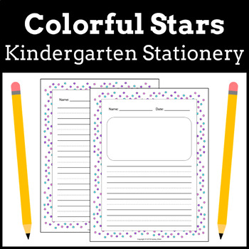 Kindergarten + Early Elementary Stationery   Colorful Stars