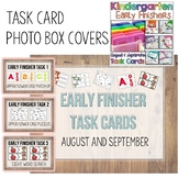 Kindergarten Early Finisher Task Card COVERS - August and