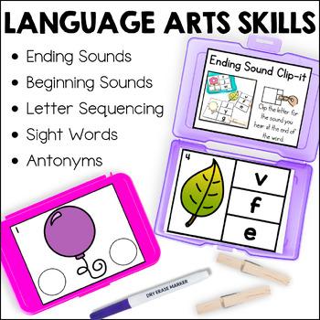 Kindergarten Early Finisher Task Cards - December