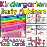 Kindergarten Early Finisher Task Cards - February