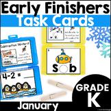 Early Finisher Task Cards for Kindergarten - January