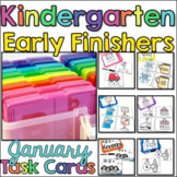 Kindergarten Early Finisher Task Cards - January