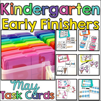 Kindergarten Early Finisher Task Cards - May
