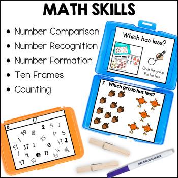 Kindergarten Early Finisher Task Cards - November