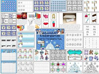 Kindergarten Early Finishers Tub for January