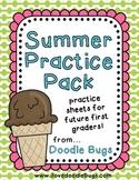 Kindergarten / Early First Grade Summer Practice Pack
