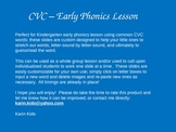 Kindergarten Early Phonics Lesson
