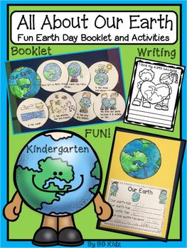 Kindergarten Earth Day Emergent Reader and Writing Activities